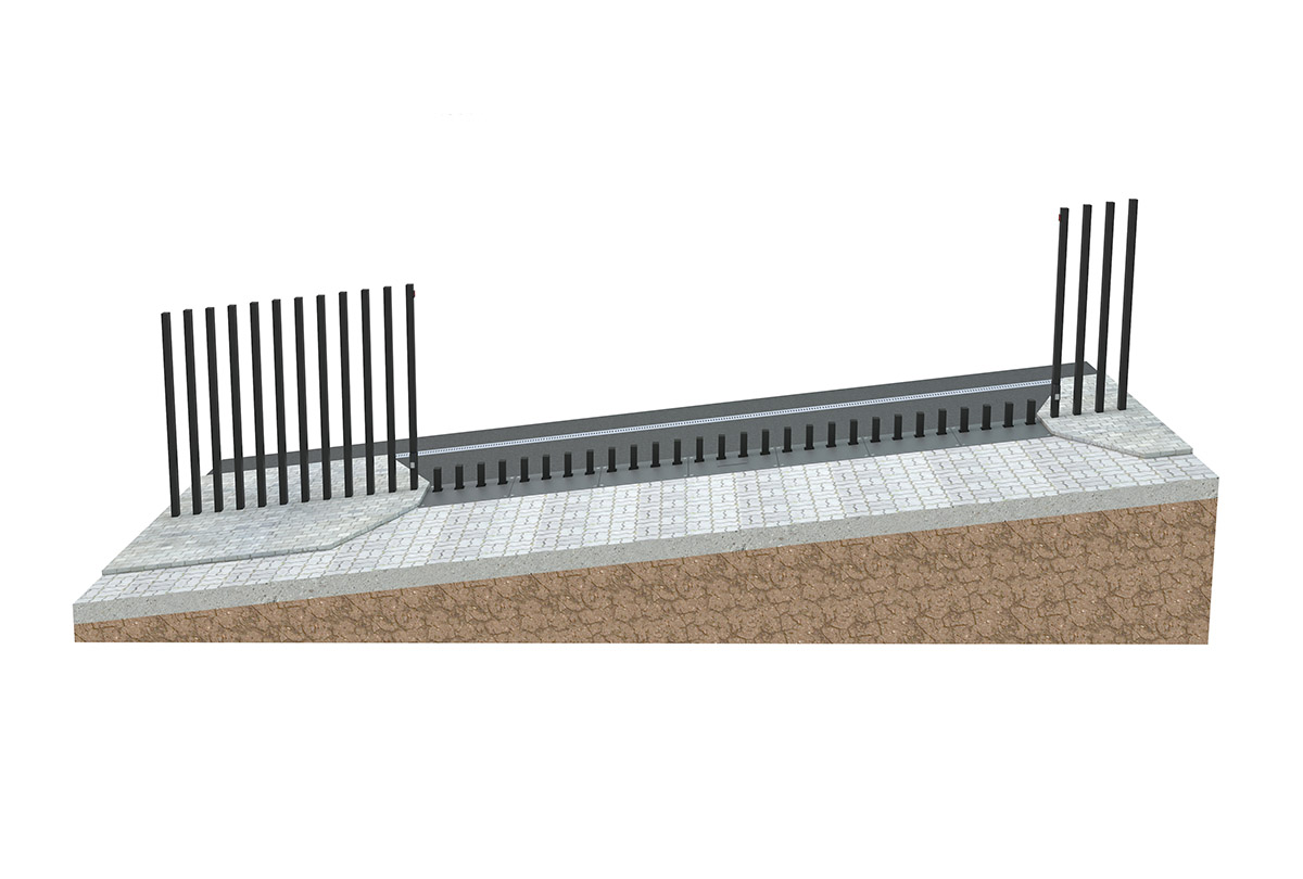 Parallel slope - top fence line is parallel to the slope line