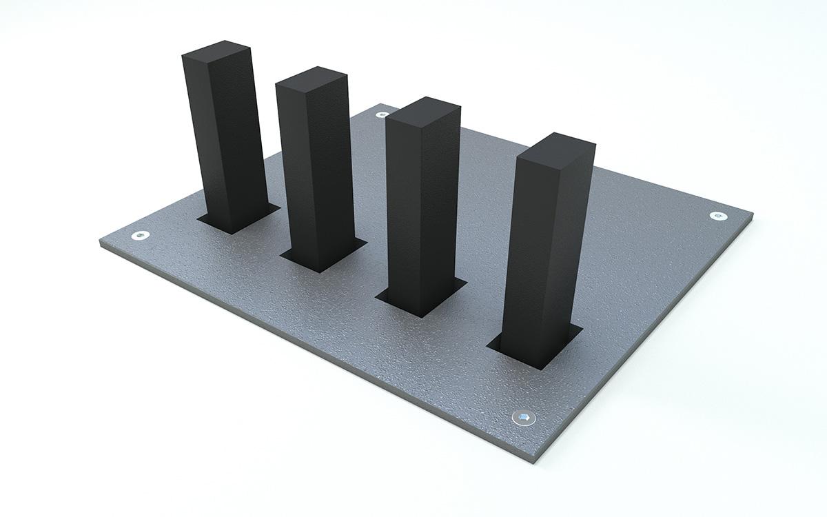 standardowe pokrywy stalowe z warstwą antypoślizgową lub bez